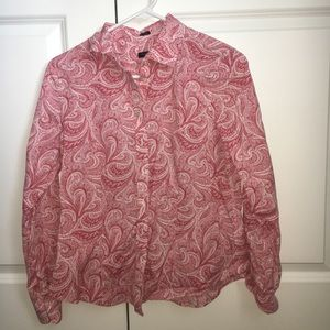 Talbots Long Sleeve Burton Down Shirt